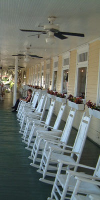 porch of Lakeside Inn